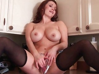 breasty redhead d like to fuck hottie toys her