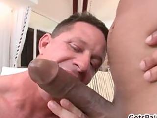 aged muscle chap sucking dark knob part9