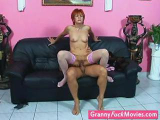 grandmother in nylons gets fucked