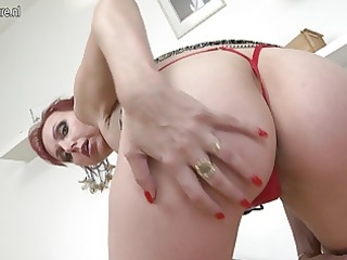 damn hot non-professional mother playing with her