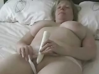 large titted older mama masturbating with a sex