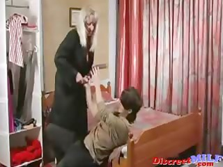 mature russian cougar drilled by marital-device
