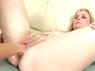mature golden-haired acquires anal fisted
