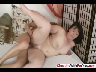 fat cougar loves to swallow