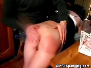 aged hottie spanked