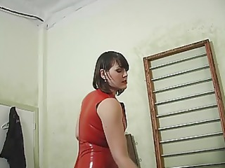 domina ties up her girlfriend and pours hot wax