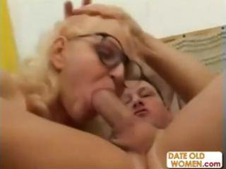 blond grandmother face holes a younger wang and