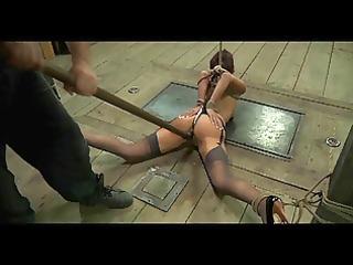 fetish bondman lavender rayne anal hooked in