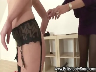 fetish lezdom mature lady sonia spanks babe