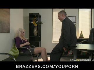 large tit blonde milf wife in nylons fuck boss di