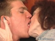 blond and dark brown are horny mature
