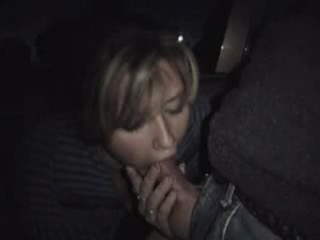 dilettante wife engulfing cock in a park