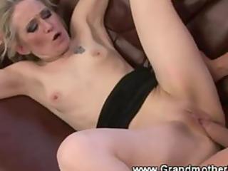 concupiscent granny enjoys a vagina slamming