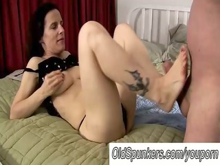 hawt older foot fuck and oral-stimulation