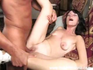 dilettante italian dark brown wife eats pounder