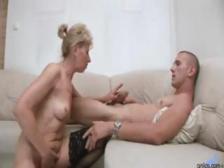 hawt blond granny gets a younger men shlong to