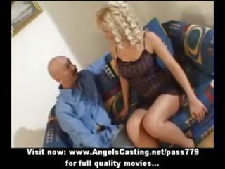 hot golden-haired mother i as bride does blowjob