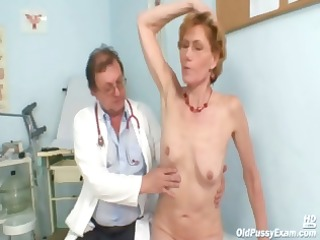 obscene old lady mila needs gyno clinic scrutiny