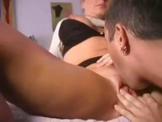 hot golden-haired milf with good big tits blows