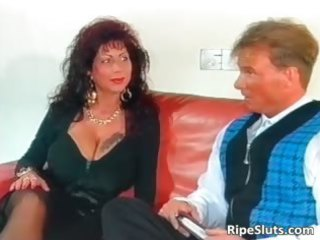 marvelous mega boobed older whore receives part0