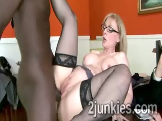 big stacked jaguar pumped by her sons dark boss