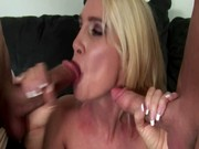 concupiscent milf debbie dial in three-some with
