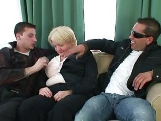 men gangbang completely drunk granny