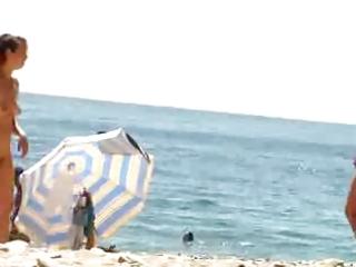 nudist beach perv 3 milf stripping
