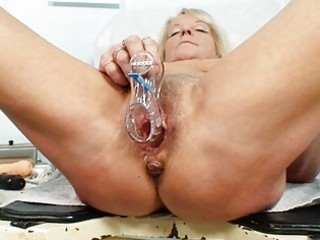 hot golden-haired granny wench acquires her