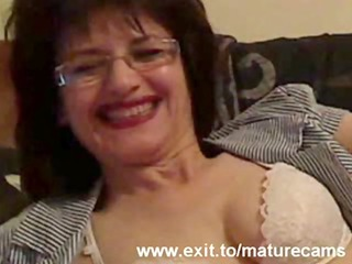 65 years granny joyce on home webcam