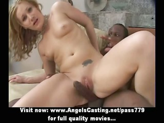 non-professional astonishing blonde babe with