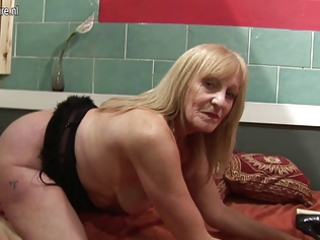 dilettante slut grandmother playing with her