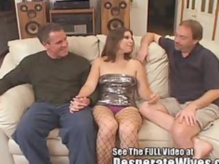 dana fulfills her wench wife mfm three way dream