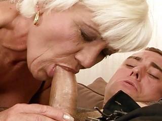hawt grandma fucking a lad