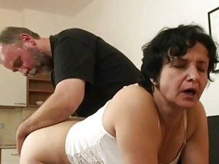 granny acquires her unshaved gap fille...