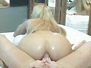 hot butt riding in front of mirror