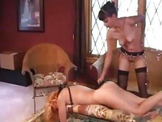 aged lesbo servitude and spanking