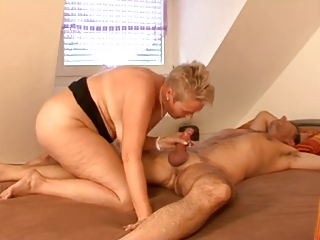 chunky golden-haired aged fucks with guy ally on