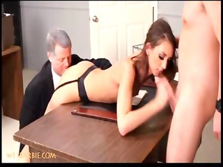 wicked secretaries in sexy hardcore three-some