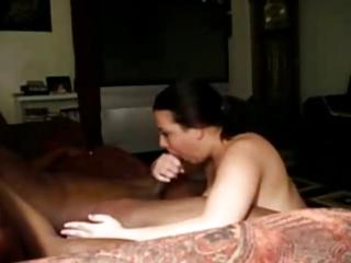 slutty cheating wife engulfing dark lover on