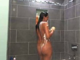 beautiful milf showering