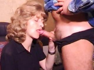 mature amateur wife homemade blow job with jizz