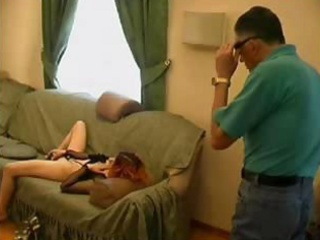 old wicked man catches granddaughter masturbating