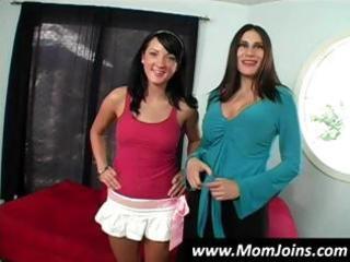 sexy dark brown mom and daughter team shelia