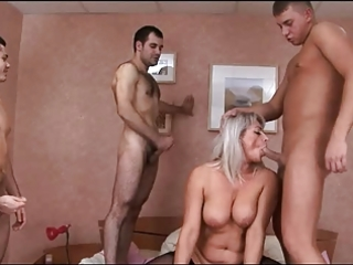 russian aged group-sex