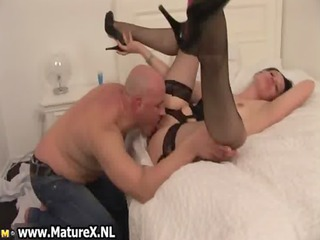 sexy brunette housewife spreading