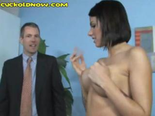 cheating spouse licks the darksome studs cum off