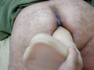 wife strapon on large sex-toy in butt your