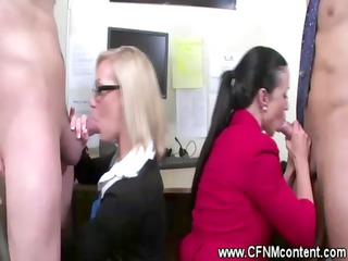 secretaries give handjobs and blowjobs