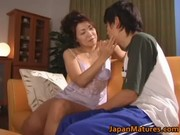 excited japanese mature sweethearts engulfing
